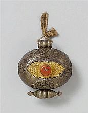 A Tibetan silver and copper amulet box (ke-ga´u)