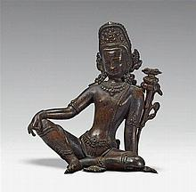 A Nepalese bronze figure of Indra