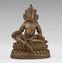 A Northeast Indian copper alloy figure of Jambhala. Pala style, 12th/13th century