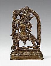 A Tibetan bronze figure of Vajrapani. 15th/16th century