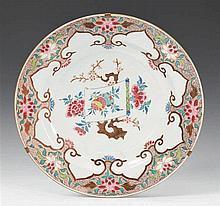 A large famille rose dish. Qianlong period (1735-1796)