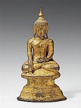 A Burmese gilt bronze figure of Buddha Shakyamuni. 18th/19th century