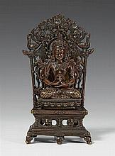 A Chinese copper alloy figure of Amitayus. Pala revival style, 18th/19th century