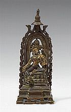 A Northeast Indian bronze figure of Syamatara. Pala style, 13th century or later
