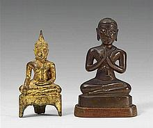 Two bronze figures. Thailand and Laos. 19th century