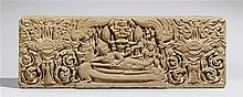 A large Thai sandstone lintel. In the style of the 12th century