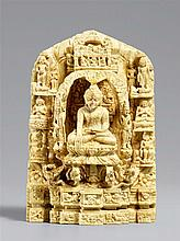A small Pagan andagu stele with scenes of the Eight Great Events on Buddha's life. Burma. 12th/13th century