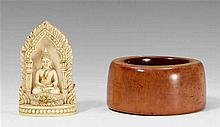 Two Thai ivory objects