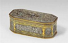 A small Southeast Asian brass and silver box for betel. 19th/early 20th century