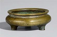 A bronze incense burner. Qing dynasty