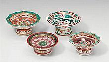Four stem plates. Thailand. 19th century