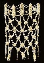 A Nepalese ritual bone apron