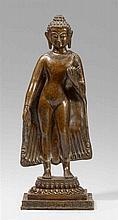 A Nepalese bronze figure of Buddha Shakyamuni. Early 19th century