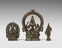 Three South Indian bronze figures. 17th/19th century