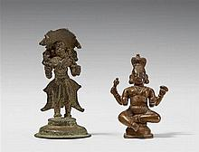 Two South Indian bronze figures of a nagaraja. 16th century or later