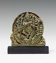 A Kerala bronze relief panel. 15th/17th century