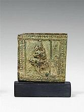 A Kerala bronze relief panel of a deity. 15th/17th century