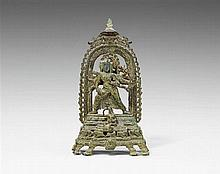 A Bihar Nalanda style bronze figure of the eight-armed Marichi. 10th/11th century