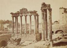 Auguste Rosalie Bisson called Bisson Jeune, Roman Forum, Temple of Saturn and Temple of Jupiter, 1855 - 1858