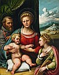 GIROLAMO DA TREVISO, THE HOLY FAMILY WITH SAINT CATHERINE
