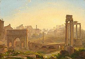 LOUISE-JOSEPHINE SARAZIN DE BELMONT, VIEW OF THE ROMAN FORUM