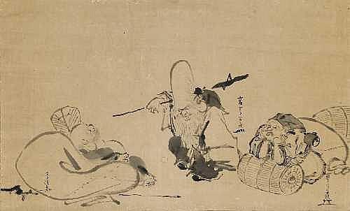 Ko Sukoku ( 1730-1804) und zwei seiner Schuler