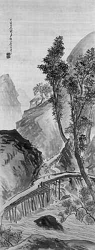 Cho Gessho (1772-1832) Hongerolle. Holzfoller in