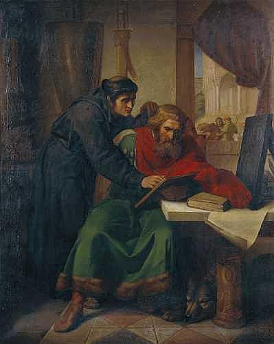 OTTO RETHEL1822 Aachen - 1892 Düsseldorf ALKUIN