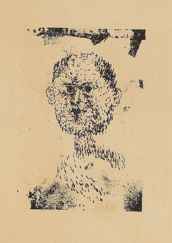 PAUL KLEE, Kopf (Bärtiger Mann), 1925