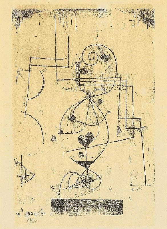 PAUL KLEE, Herz-Dame (Herzkönigin), 1921