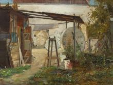 Ernst Albert Fischer-Cörlin, Behind the National Gallery in Berlin in 1880