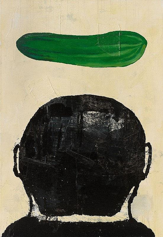 DONALD BAECHLER, Untitled (Composition with cucumber), 1988
