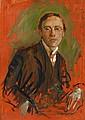 AUGUST MACKE, Porträt Karl Keck. Rückseitig Ölskizze eines grabenden Bauers, 1907