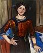 LOVIS CORINTH, Porträt Charlotte Corinth in brauner Bluse, 1910