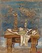 JANKEL ADLER, Stilleben mit jüdischen Ritualgegenständen, 1930s