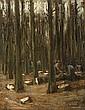 MAX LIEBERMANN, Waldarbeiter - Studie zu dem Wandbild