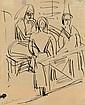 ERNST LUDWIG KIRCHNER, Drei Frauen im Raum, 1922