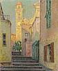 HENRI EUGÈNE AUGUSTIN LE SIDANER, La Rue de l'Eglise, Villefranche-sur-Mer, 1928