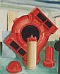 CARL GROSSBERG, Rotes Holzmodell (Weise & Monski, Halle), 1936