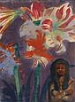 EMIL NOLDE, Mädchen mit Amaryllis, 1930/1935