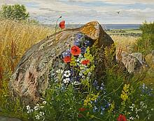 Carl Frederik Aagaard, Wildflowers by a Cornfield