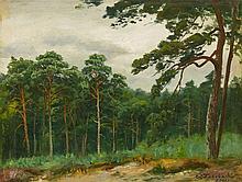 Carl Ludwig Fahrbach, A Wooded Landscape