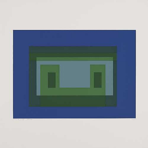 JOSEF ALBERS Bottrop 1888 - 1976 New Haven Ten