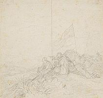 PETER VON HESS; SOLDIERS ON A HILL
