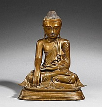 A Mandalay bronze figure of Buddha Shakyamuni. Burma. 20th century