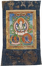 A Tibetan thangka of Shadakshari-Lokeshvara. 19th century