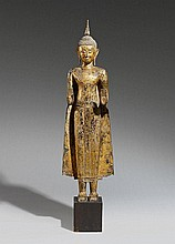 An Ayutthaya style bronze figure of a standing Buddha. 18th/19th century