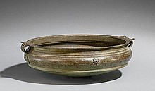 A very large Kerala bronze bowl. 19th century