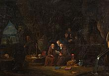 Egbert van Heemskerck the Elder, attributed to, Hermits in a Grotto