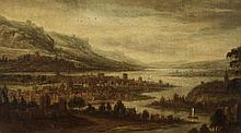 Dionijs Verburgh, attributed to, Landscape with a City by a River